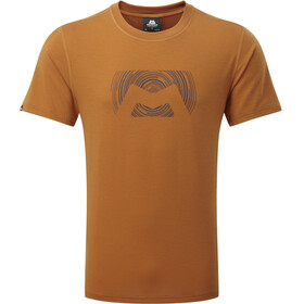 Mountain Equipment Groundup Logo+ Shortsleeve Shirt Men orange